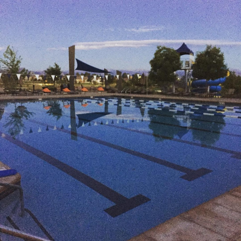 Dark chilly mornings at the pool means the seasons almost over #IMLT