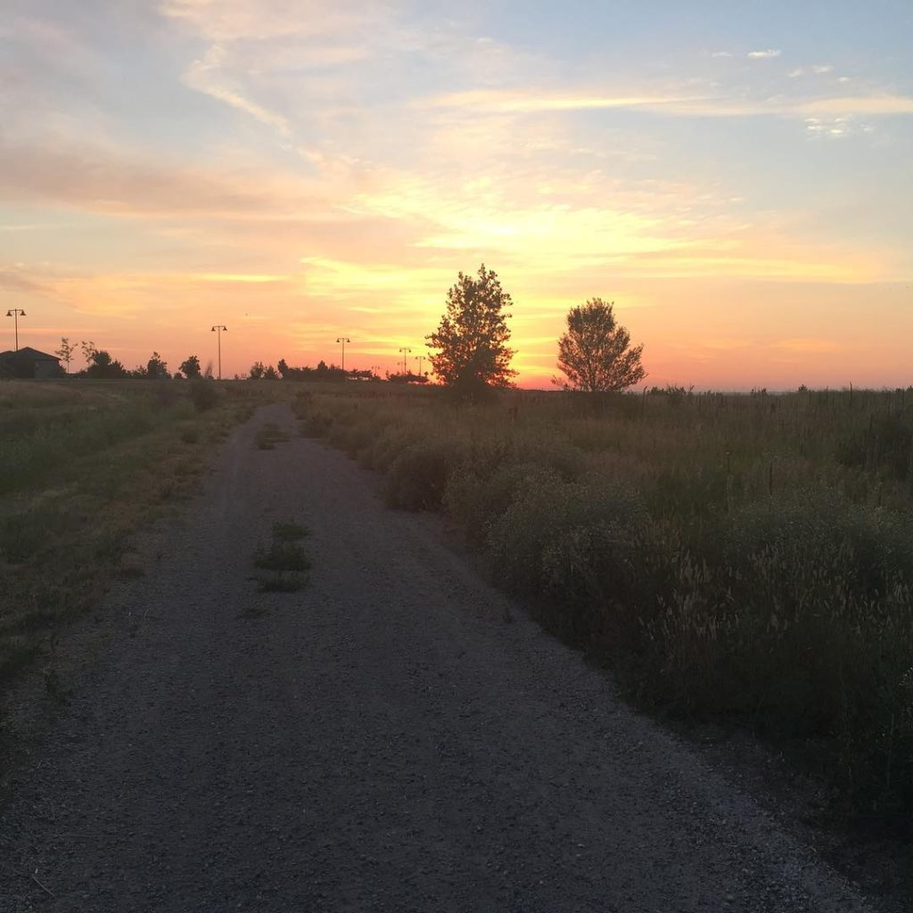 Loving early morning miles #coloRADo #roadbacktofitness #7weekspostpartum