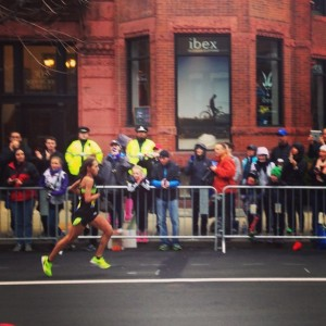 #latergram watching Des Linden taking an impressive 4th at the #BostonMarathon
