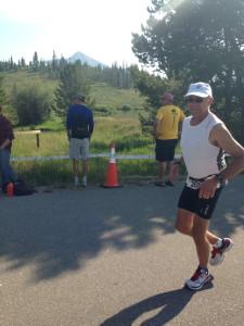Lots of triathlon spectating - Go Dad!