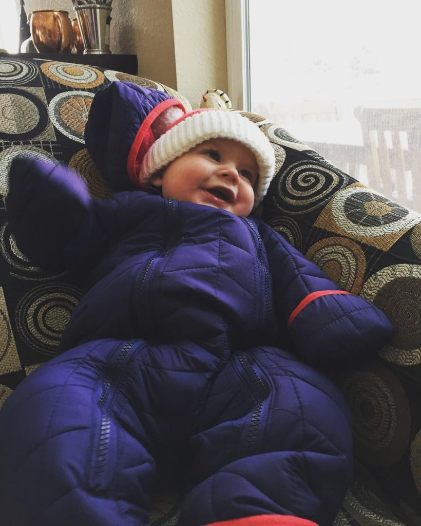 Just a little snow day goofin' Love this little guy so much ❤️❄️️❤️ #snowday #cannon #cmcn