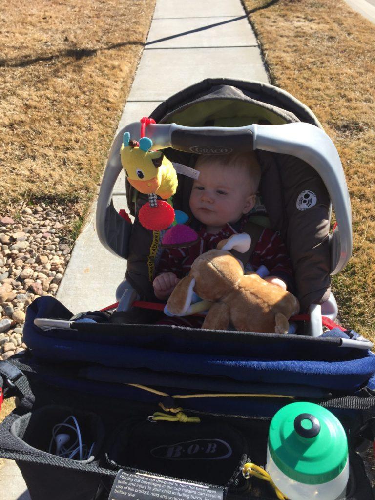 baby, BoB Stroller, Running