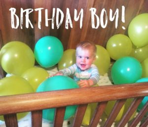 Cannon is one! We will spend today celebrating this littlehellip