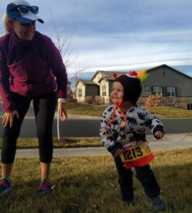 Getting ready to turkey trot with the bump and thehellip