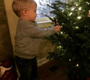 Helping to decorate the tree cannon cmcn